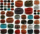 3/4/5mm Real Flat Hide Leather Cord Thong Jewelry Crafts DIY 18 colors options