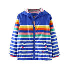 Hooded Jacket Boy Autumn Windproof Casual Coat Blue Stripe Outerwear Kid Clothes