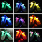 New LED Flash Luminous Light Up Glow Strap Shoelaces String Party Skating DISCO