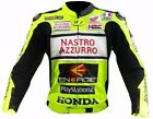 HONDA NASTRO AZZURRO LEATHER MOTORCYCLE BIKER RACING JACKET MOTORBIKE JACKET