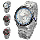 3 Colors Casual Analog Men's Date Stainless steel Quartz Wrist Watch