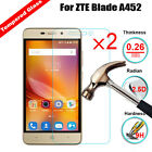 2Pcs Premium Tempered Glass 9H Hardness LCD Screen Protector Film Guard For ZTE