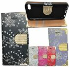 New Diamond Bling Leather Book Stand Wallet Case Cover For Various Nokia Phones