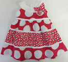 Rare Editions 3 6 9 Months Pink & White Polka Dot Dress Baby Girl Clothing