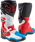 Fox 17 Comp 8 Red White MX Boots Motocross Off-Road Dirt Bike Trail Shoes