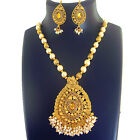 Ethnic Indian Jewelry Bollywood Necklace Bridal Gold Traditional Fashion Set