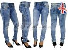 NEW WOMENS RIPPED KNEE CUT JEANS DISTRESSED SKINNY FIT STRETCHY LADIES yg05