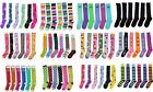 Women's Funky Colorful Comfortable Stripes Weed Leaf Argyle Long Knee High Socks