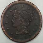 1850 BRAIDED HAIR LIBERTY HEAD LARGE CENT - NICE COPPER COIN