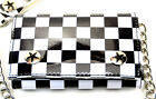 Checkerd board Trifold Bikers wallet with chain Punk Rock Goth Style by Addicted image