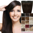"""Handmade Clip In Full Head 100% Real Remy Human Hair Extensions 20"""" 100g 1 Piece"""
