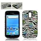 For Samsung Galaxy S2 T989 2-in-1 Phone Case Peace Symbol & Skulls Zebra Stripes