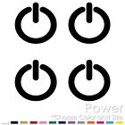 POWER BUTTON SIGN SYMBOL VIDEO GAME TURBO FUNNY JDM VINYL DECAL STICKER (P-01)