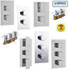 1 / 2 / 3 Way Outlet Concealed Thermostatic Shower Mixer Valve Chrome Brass WRAS