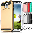 Card Holder Case Wallet Hybrid Silicone Hard Cover for Samsung Galaxy S3 S4 S5