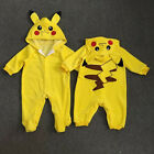 New Infant Baby Long Sleeve Pikachu Outfit Jumpsuit Rompers Cosplay Costume
