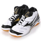 Mizuno Japan Men's WAVE RYDEEN MID Volleyball Shoes 2016 V1GA1625 White Black