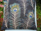 SANDERSONS 'THEMIS' PEACOCK FEATHER CUSHION COVERS