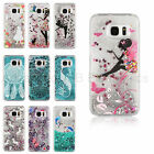 Pattern Flower Fairy Liquid Glitter case cover for Samsung S7 S7 Edge S6