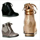 Kyпить NEW Women's Fashion Lace Up High Top Ankle Wedge Heels Sneaker Booties Shoes на еВаy.соm