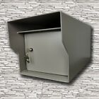 M1-LT Fort Knox Mailbox ~11 gauge all welded locking secure mailbox & Add a post