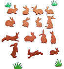5 Full Sets Of Mini Bunnies Die Cuts, Easter Birthdays Rabbits Imo Choose Colour