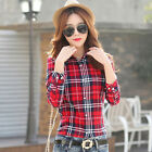 Fashion Women Plaid Shirt Long Sleeve Women Blouses Shirt Women Plus Size Cotton