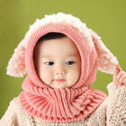 Winter Baby Toddler Girls Boys Warm Hat Beanie Hooded Scarf Earflap Knitted Cap
