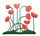5 Fully Assembled Poppy Patch Die Cuts, Flowers/Birthdays. Choose Colour!