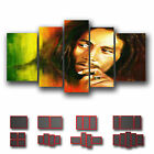 ' Bob Marley ' Music Icon Wall Art Box Split Canvas More Size & Color ~ 5 Panel