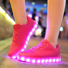 New Unisex Color LED USB Lights Charger Luminous Lace UP Casual Sneakers Shoes