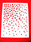 5 Cascading Hearts Frame/Mat Die Cuts, Love, Spellbinders. Any Colour/Card