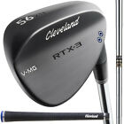 Kyпить CLEVELAND RTX 3 BLACK SATIN BLADE WEDGE - NEW 2017 STEEL 2 DOT, PICK YOUR LOFT! на еВаy.соm