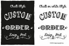 Custom Wedding Personalised Welcome Chalk Board print Sign Style Guest Vintage