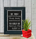 Hash Tag Sign Social Media  New Mr Mrs Chalk Board print Style Vintage aa115