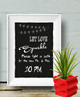 Let Love sparkle Guest Sign Hour Sign Chalk Board print Style Vintage aa109