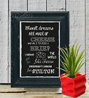 Sweet Dreams Are made of Cheese Chalk Board print Style Vintage aa105 Custom
