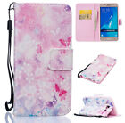 Rose Tower Wallet Leather ID Card Flip Case Cover Stand For Samsung Galaxy Phone