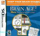 Brain Age 2 More Training in Minutes a Day! Nintendo DS 3+ Puzzle Game