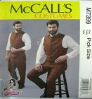 McCalls Sewing Pattern 7399 Mens Victorian Vest Pants Cosplay Costume Pick Size