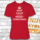 KEEP CALM HAVE A MERRY CHRISTMAS TSHIRT - FUNNY PRESENT - STOCKING FILLER GIFT