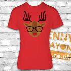 RETRO RUDOLF WITH GLASSES TSHIRT -FUNNY CHRISTMAS PRESENT - STOCKING FILLER GIFT