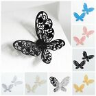 Pack 10 3D 4cm Metal Stencil Butterfly Wedding Stationery Favour Box Decoration