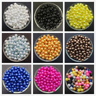 Kyпить Wholesale 4mm 6mm 8mm 10mm Acrylic Round Pearl Spacer Loose Beads Jewelry Making на еВаy.соm