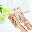 Natural Peach Wood Wide Tooth Comb Hair Care anti-static Wooden Massage Combs
