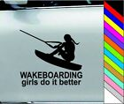 Wakeboarder Girl Car Boating Wakeboarding Girls Do It Better Chick Sticker Decal