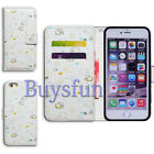 Bcov Leopard Elephant Flower Wallet Leather Cover Case For iPhone 4 5 6 7