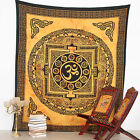 Indian TIBET OM Mandala Tapestry Wall Hanging Hippie Throw Bohemian Bedspread