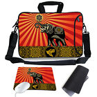Animal Shoulder Sleeve Case Bag Side Pocket + Mouse Pad For Macbook Pro/Air Acer