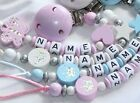 Dummy Clip for Boys and Girls personalised baby gift wooden clip